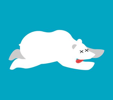 死んだシロクマ。北極と南極野生獣死んだ。死体北プレデター