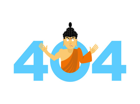 surprisingly: Error 404. surprisingly Buddha. Page not found template for website. Page lost and found message