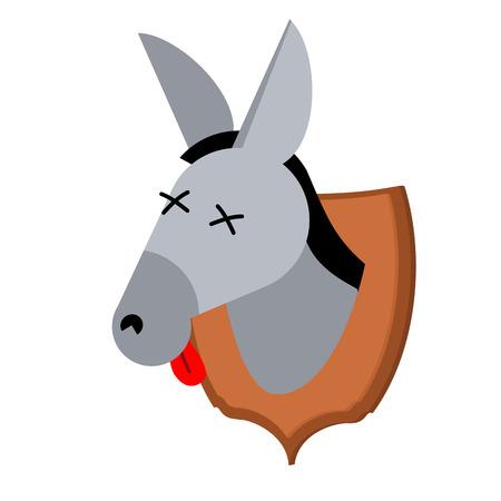 jackass: Hunter trophy donkey. mulish head was on shield. Scarecrow Wild Beast