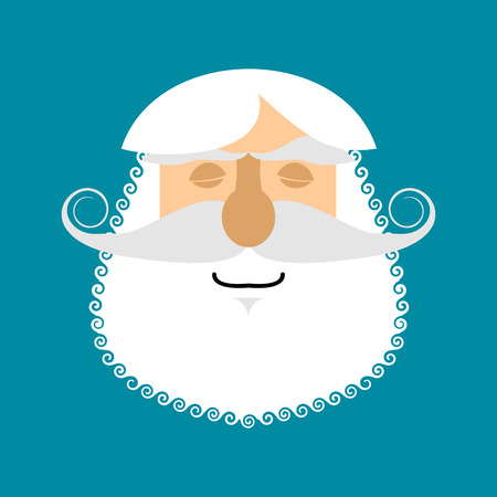 Old man Sleeping Emoji. senior with gray beard face asleep emotion isolated Illustration
