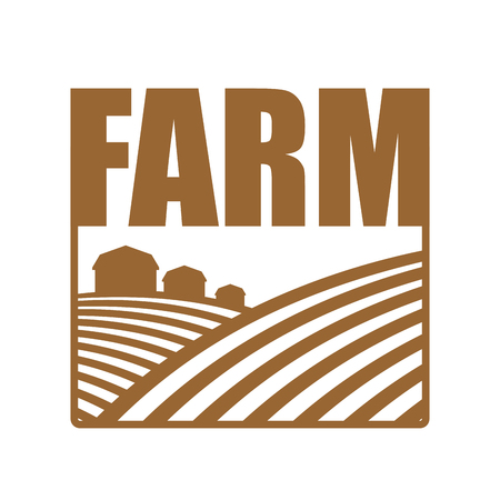 arable: Farm logo. Agriculture sign. Arable land and farm lands