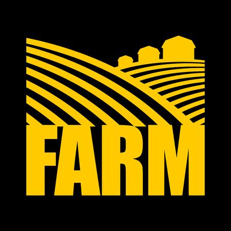 the arable land: Farm logo. Agriculture sign. Arable land and farm lands