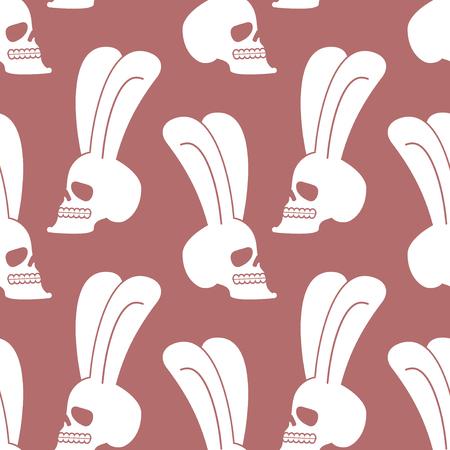 Cráneo De Conejo Conejito Blanco Con Cabeza Esquelética Con Orejas ...