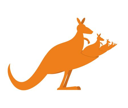 Kangaroo recursion. Lot of Australian kangaroos are sitting in their pockets.