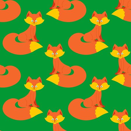 foxy: fox pattern. Cute wild animal background. Beast Texture for childrens cloth