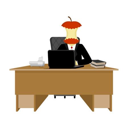 Boss apple stump. Director stub of table. Executive desk