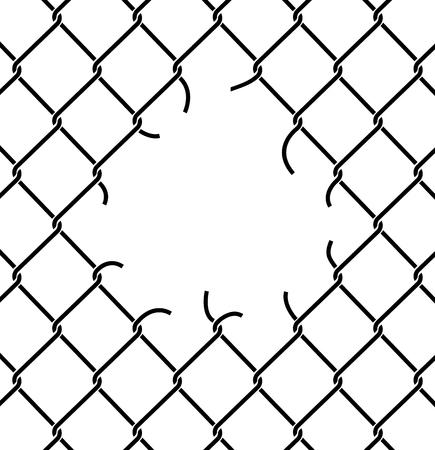 背景を破れた網をメッシュします。