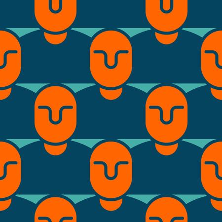 business team: People texture office seamless pattern. Illustration