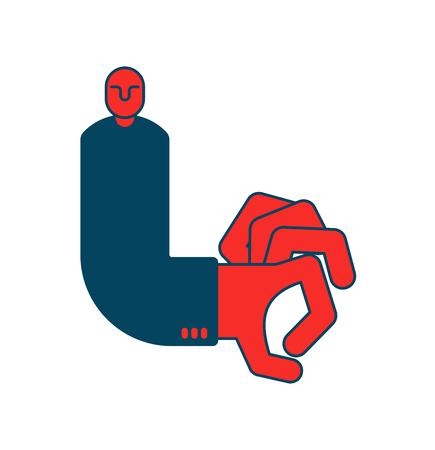 dismissal: Dismissal flick fingers boss, business concept office life Illustration