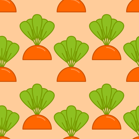 Carrot growth seamless pattern.