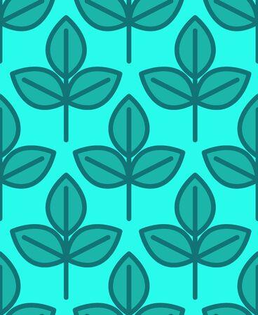 Young sapling seamless pattern.