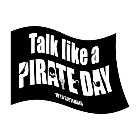 jargon: International Talk Like A Pirate Day. piratical black flag. filibuster Banner.
