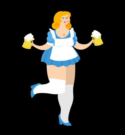 bavarian girl: Oktoberfest girl and beer mug. National Beer Festival in Germany. Woman and alcohol.