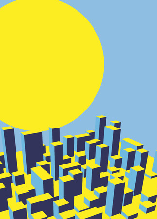 city background: Skyline City dawn. Abstract town. Industrial landscape Vector illustration