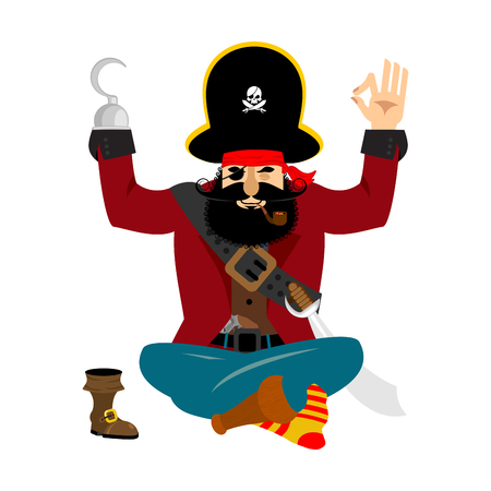 Pirate yoga Illustration