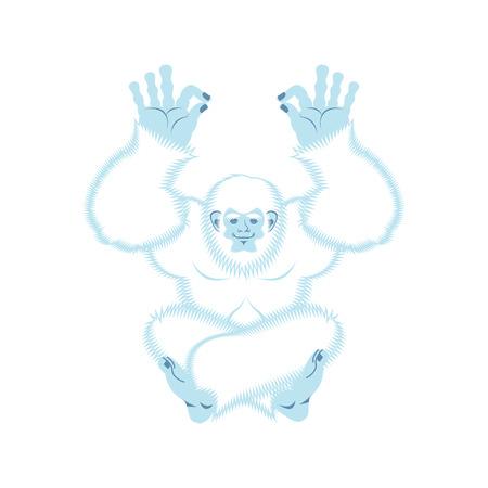 Yeti yoga Illustration