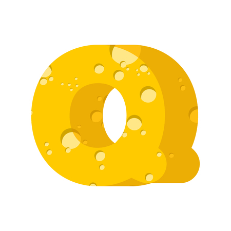 Letter Q cheese font