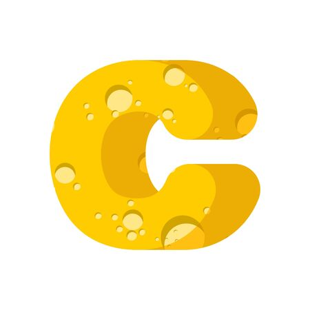 Letter C cheese font