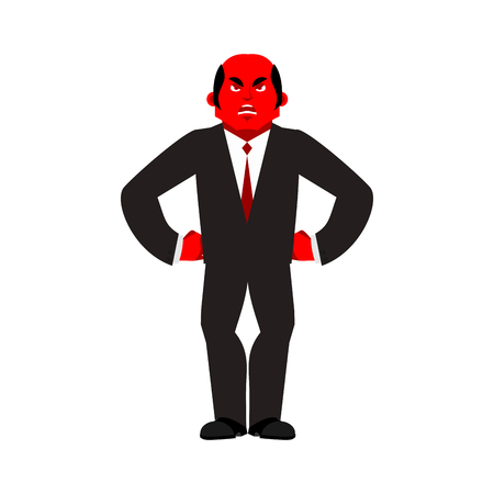 dissatisfied: Boss angry red