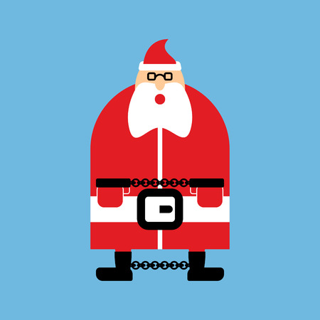 Arrested Santa Claus in handcuffs