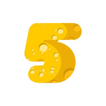 Figure 5 cheese font Illustration