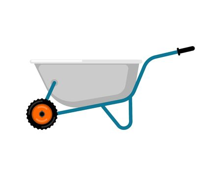 heavy industry: Wheelbarrow Garden isolated.  grounds trolley. Vector Illustration