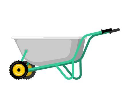 heavy industry: Wheelbarrow illustration.