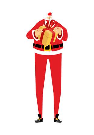 male symbol: Santa Claus holding a gift box illustration.