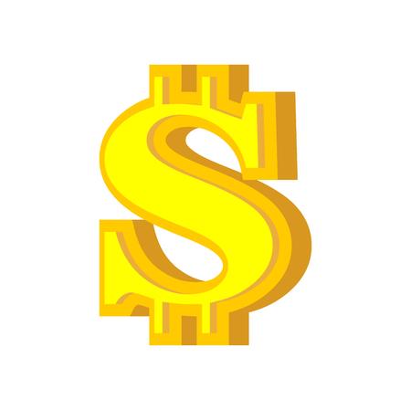 S letter bitcoin font. Cryptocurrency alphabet. Lettering virtual money. Vector illustration Illusztráció