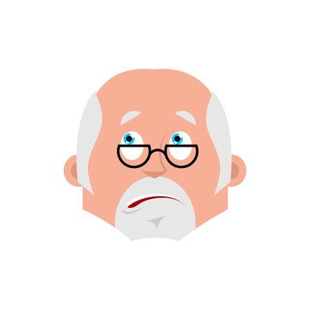 Doctor bewildered emotion avatar. Physician at a loss emoji. Vector illustration Illustration