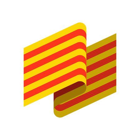 Catalonia flag design.