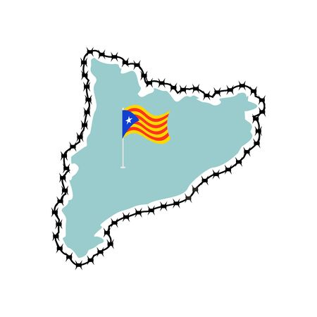 Map with flag icon.