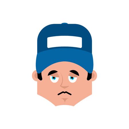 Plumber sad emotion avatar.