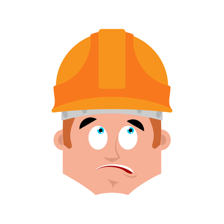 Builder surprised emotion avatar.