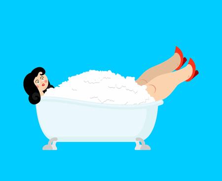 Beautiful girl in bathtub.