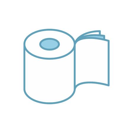 トイレット ペーパー 3 レイヤー アイコンをロールバックします。梱包のシンボル。ベクトル図