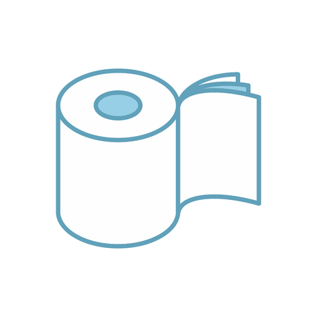 Toilet paper three layers roll icon. Symbol for packing. Vector illustration Ilustração