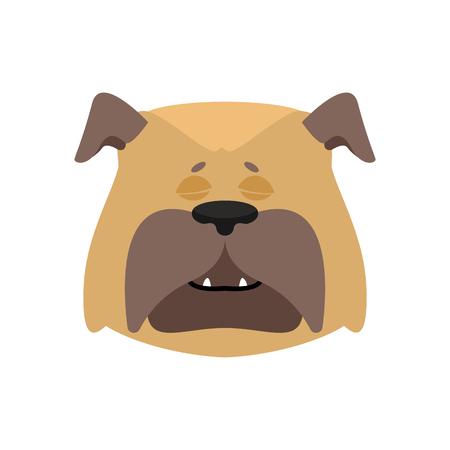 Dog sleeping emoji. Pet asleep emotions. bulldog dormant. Vector illustration Illustration