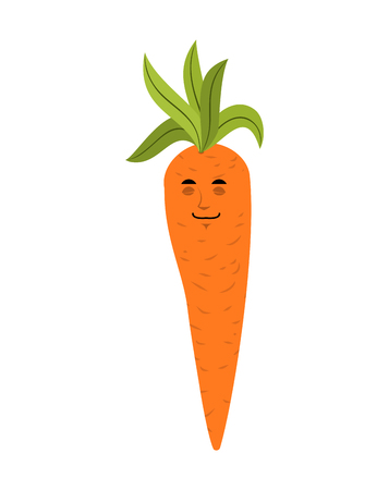 Carrot sleeping emoji. Vegetable asleep isolated. Dormant emotion
