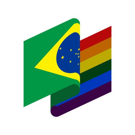 Brazil LGBT flag  Brazilian Symbol of tolerant.