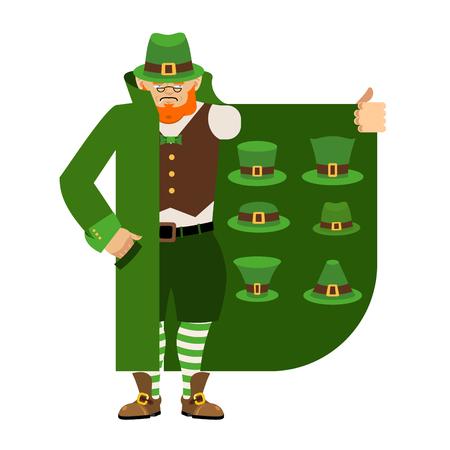 Leprechaun Smuggler selling green hat.