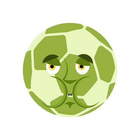 Soccer ball Nausea Emoji. Stockfoto - 96830589