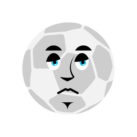 Sad soccer ball vector illustration Vettoriali