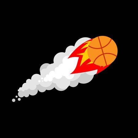 Fiery Basketball vector illustration