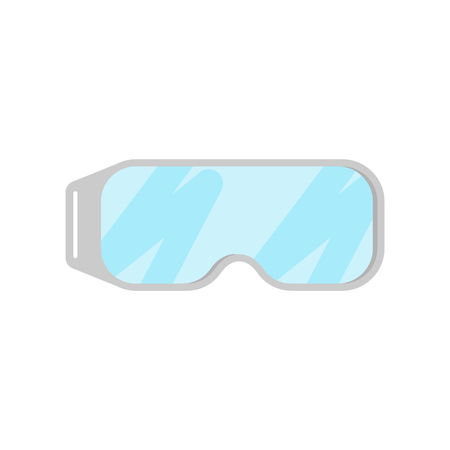 Chemical protection glasses isolated. Laboratory Accessory Vector illustration  イラスト・ベクター素材