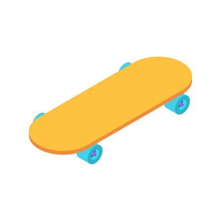 Skateboard isometric style isolated. Skateboarder vector illustration Vectores