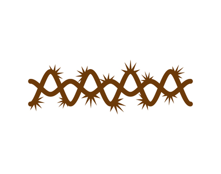 Crown of thorns isolated for Jesus, god's son, biblical religious vector illustration.