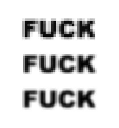 Fuck pixel art blurred. pixmaps represent . Vector illustration Illustration
