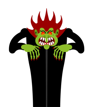 Scary man. Nightmare monster with long claws. Vector illustration  Illustration