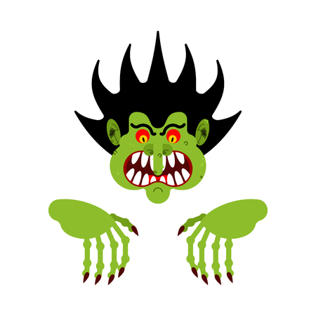 Scary man. Nightmare monster with long claws. Vector illustration